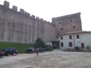 Lavori in fune mura di Cittadella
