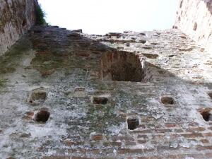 Mura di Cittadella in deterioramento per presenza di muschi