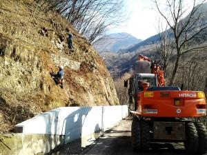 disbosco bonifica pareti Disbosco di parete rocciosa Paitone