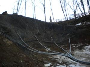 drenaggi ingegneria naturalistica Drenaggi che captano acque sotterranee in area in frana Recoaro Terme