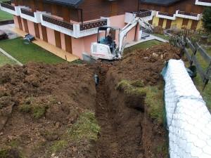 drenaggi ingegneria naturalistica Realizzazione di trincea drenante con elementi prefabbricati Roana