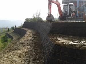 gradonatura e giardini terre rinforzate Formazione di terrazzi coltivabili Fornovo