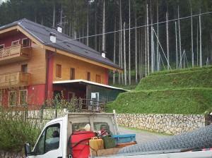 gradonatura e giardini terre rinforzate Formazione di terrazzo per allargamento campo sportivo Roana