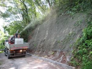 idrosemine rinverdimenti terre rinforzate Idrosemina su scarpata consolidata Schio