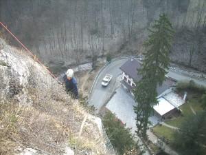 lavori in parete lavori in fune Ispezioni di manutenzione delle reti paramassi Recoaro Terme