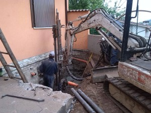 micropali opere speciali Rinforzo delle fondazione dell'angolo dell'edificio Valdagno