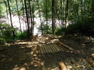 opere in legname ingegneria naturalistica Briglie in legname per regimazione delle acque superficiali Valli del Pasubio
