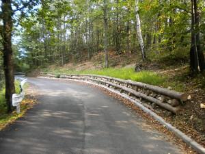 opere in legname ingegneria naturalistica Muro in legname di sostegno del versante Recoaro Terme