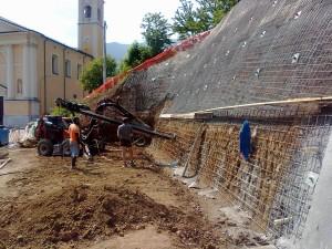 pareti chiodate consolidamenti Consolidamento di una parete di scavo Schio