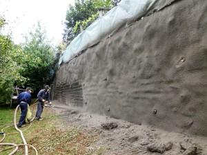 spritz-beton consolidamenti Consolidamento di muro in cemento armato Valdagno