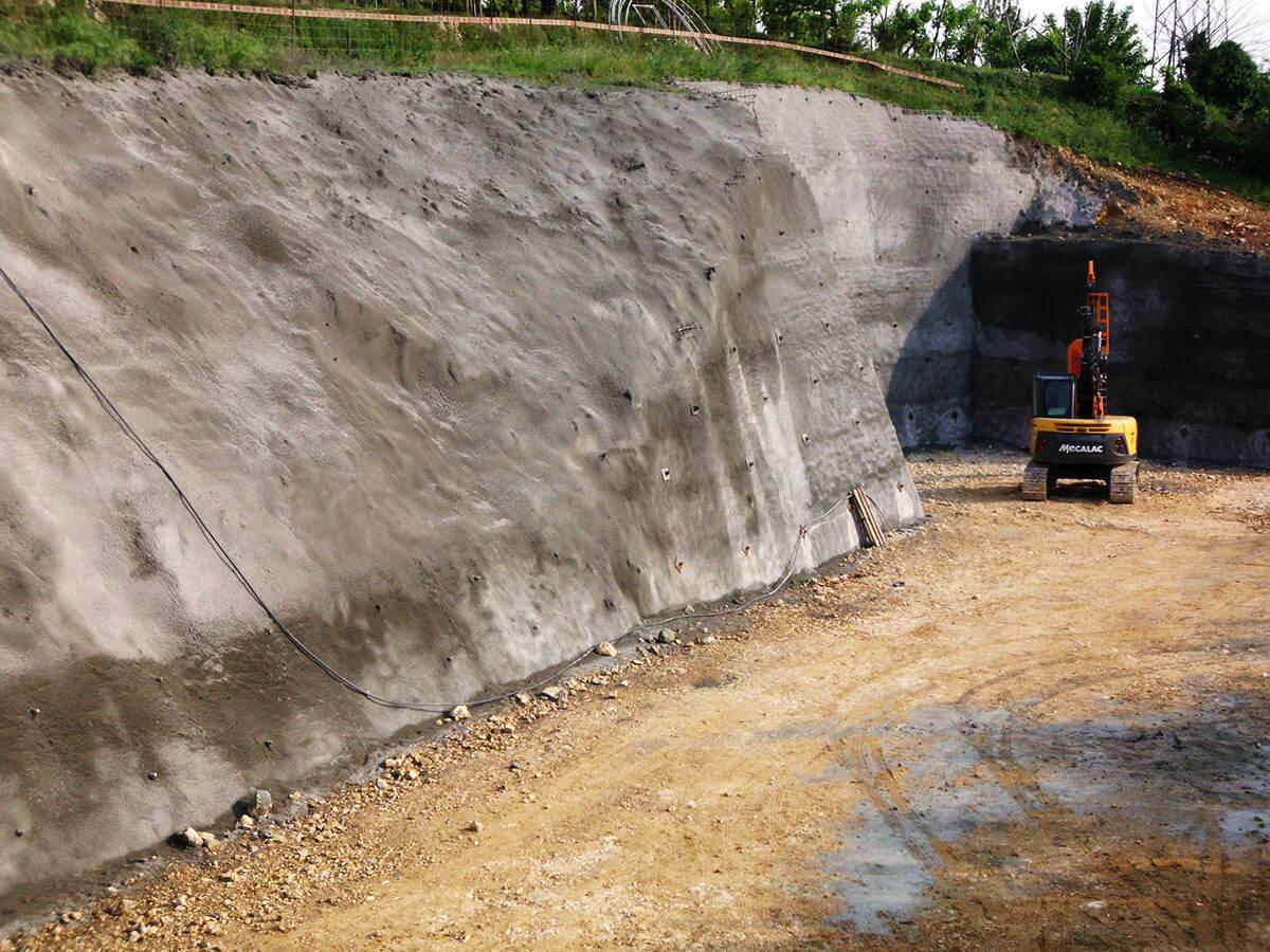 spritz-beton consolidamenti Consolidamento provvisorio di pareti di scavo Negrar