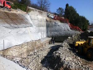 spritz-beton consolidamenti Consolidamento provvisorio di pareti di scavo Toscolano Maderno
