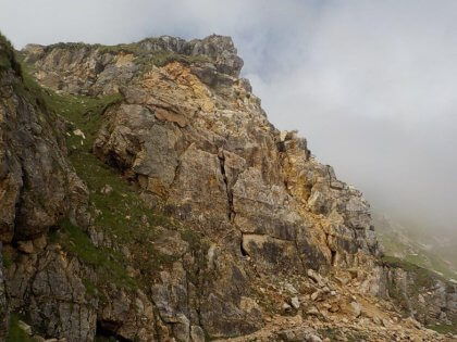 Foto della Strada delle 52 gallerie e del sentiero Val Fontana D'Oro prima del disaggio pesante