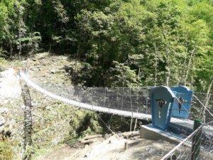 Ponte tibetano e passerelle pedonali